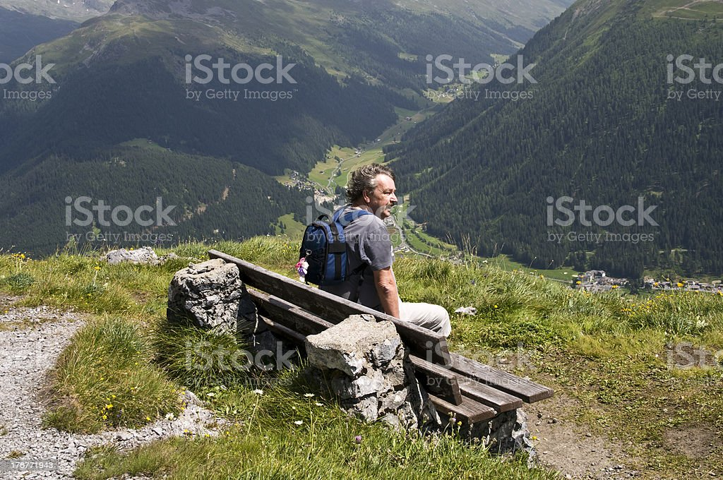 Sightseeing from Schiahorn royalty-free stock photo