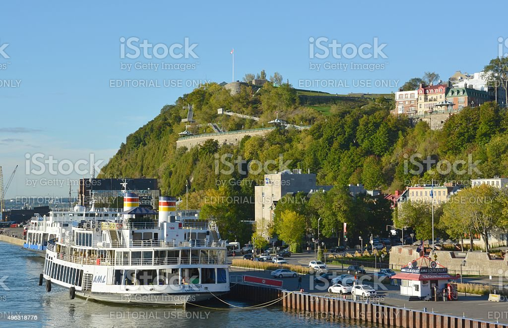 sightseeing Quebec stock photo