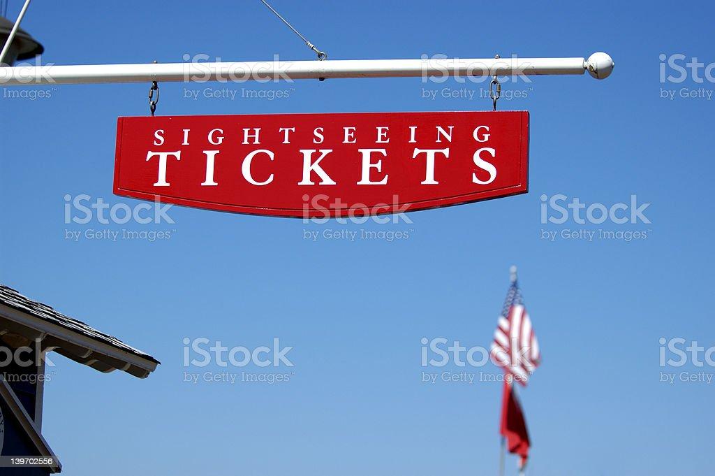 Sightseeing Tickets stock photo