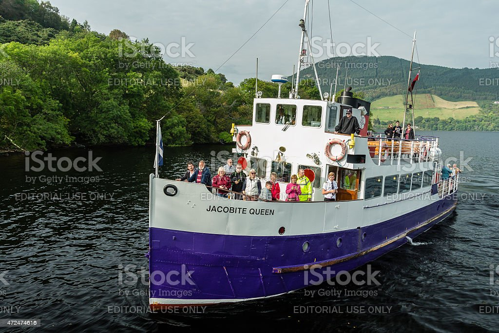Sightseeing trip in Loch Ness stock photo