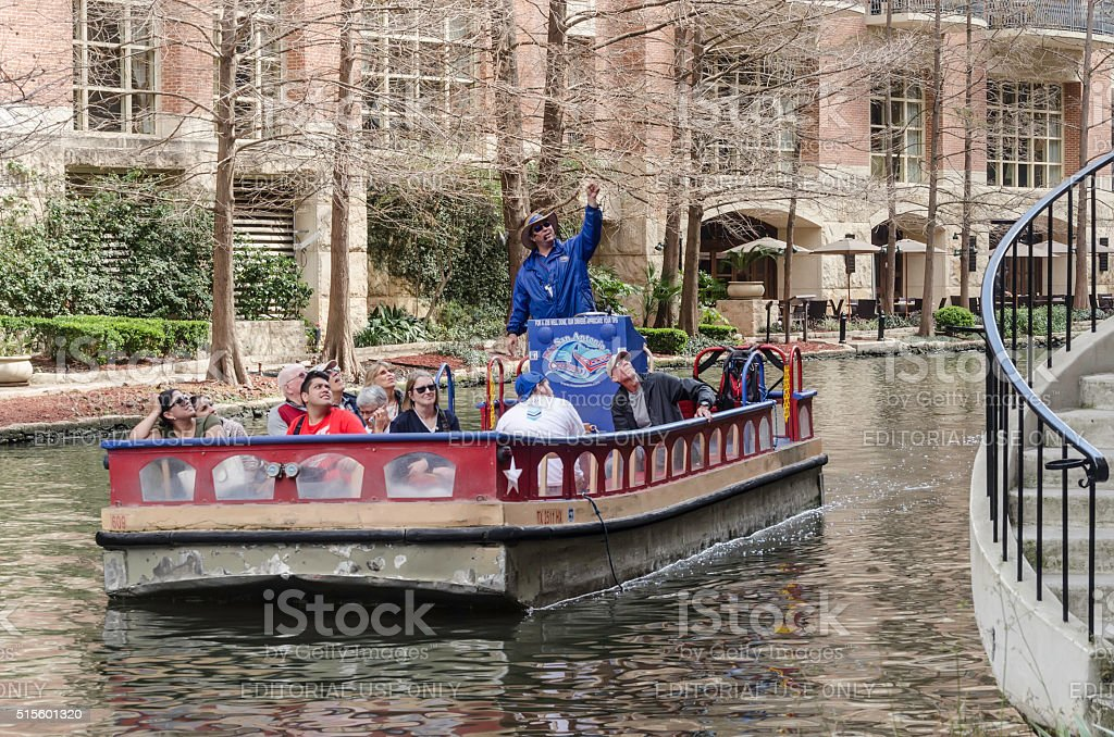 Sightseers in San Antonio stock photo