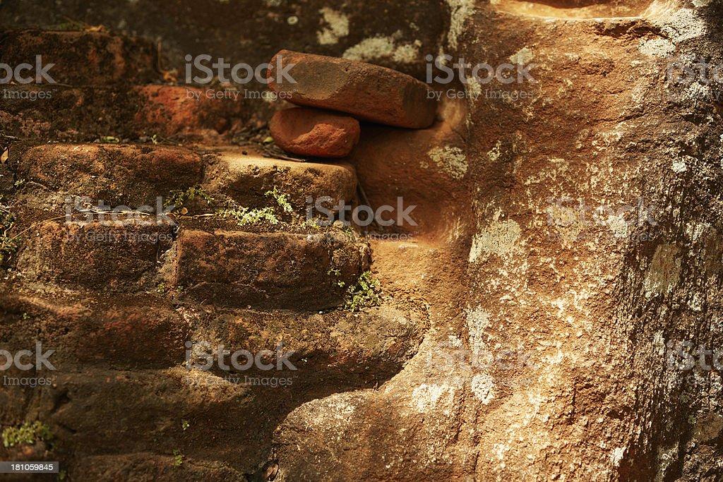 Sigiriya bricks royalty-free stock photo
