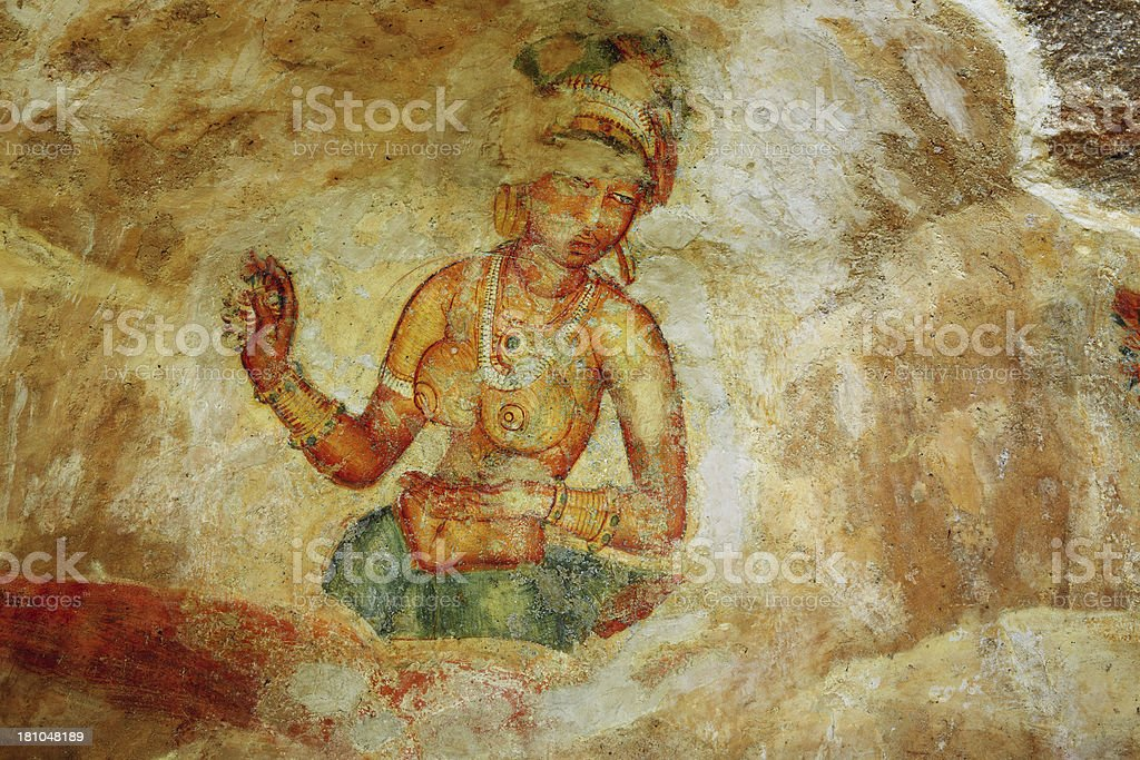Sigiriya Damsels royalty-free stock photo