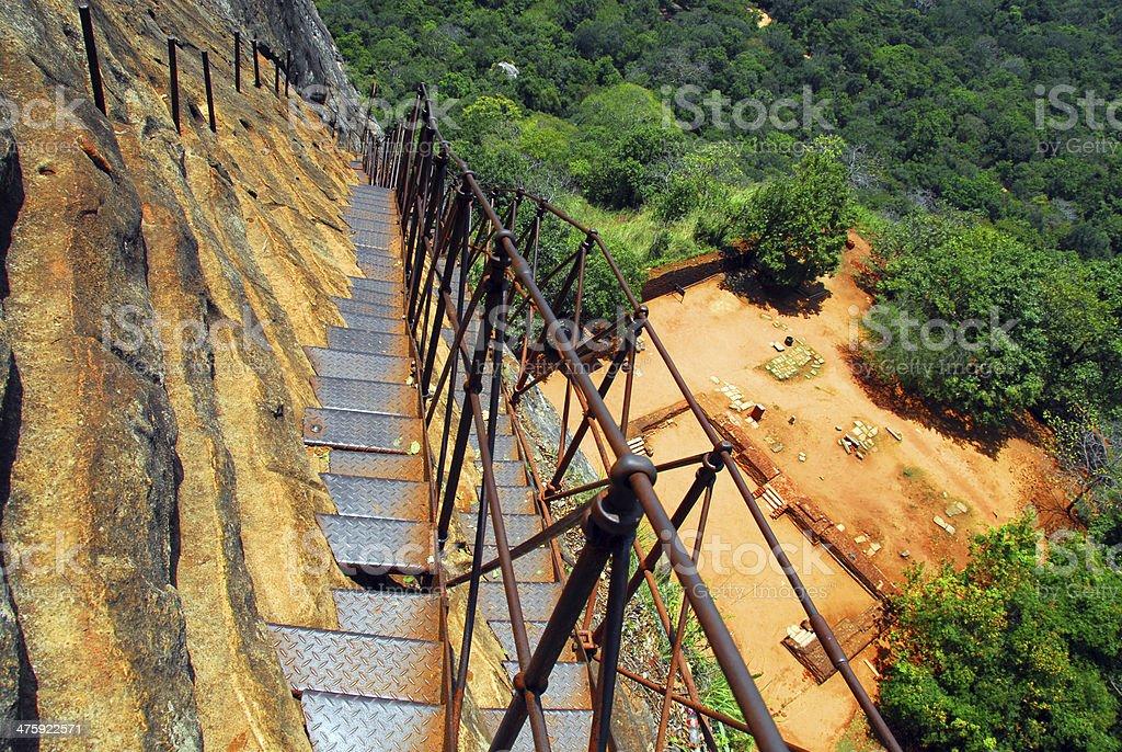 Sigiriya lion rock fortress royalty-free stock photo