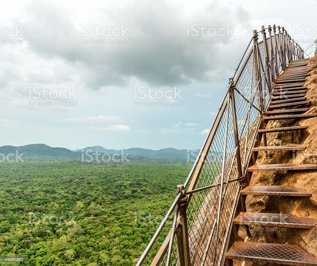 Sigiriya lion rock fortress,Sri Lanka stock photo