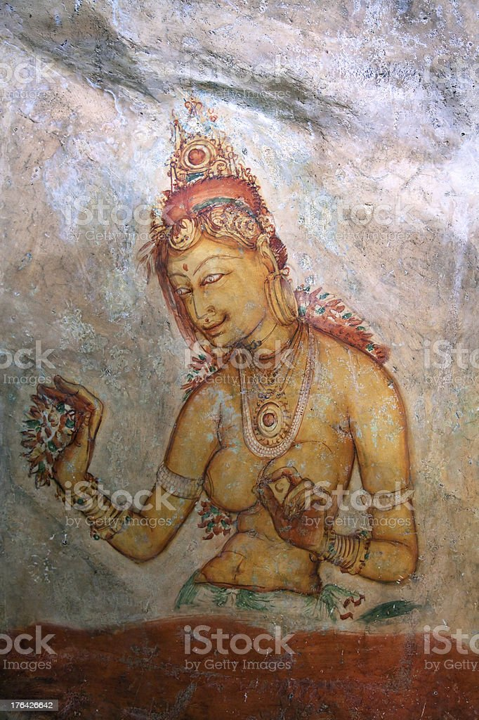 Sigiriya Painting royalty-free stock photo