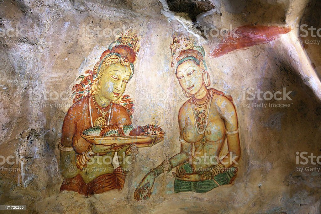 Sigiriya Painting royalty-free stock photo