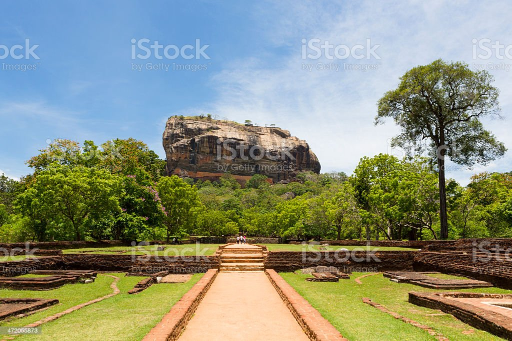 Sigiriya rock stock photo