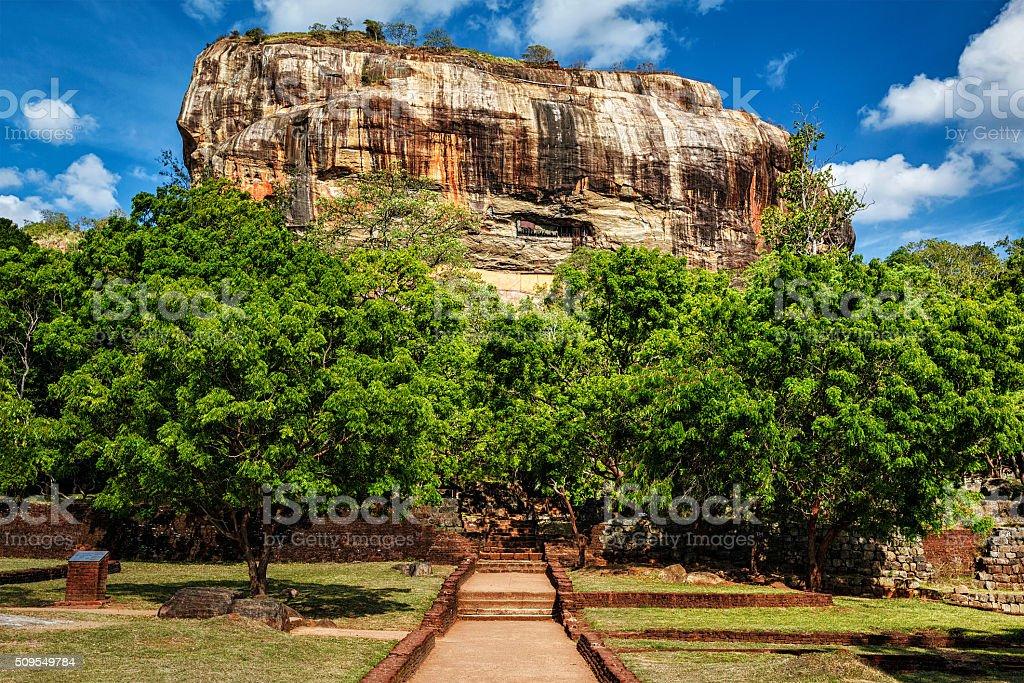 Sigiriya rock, Sri Lanka stock photo