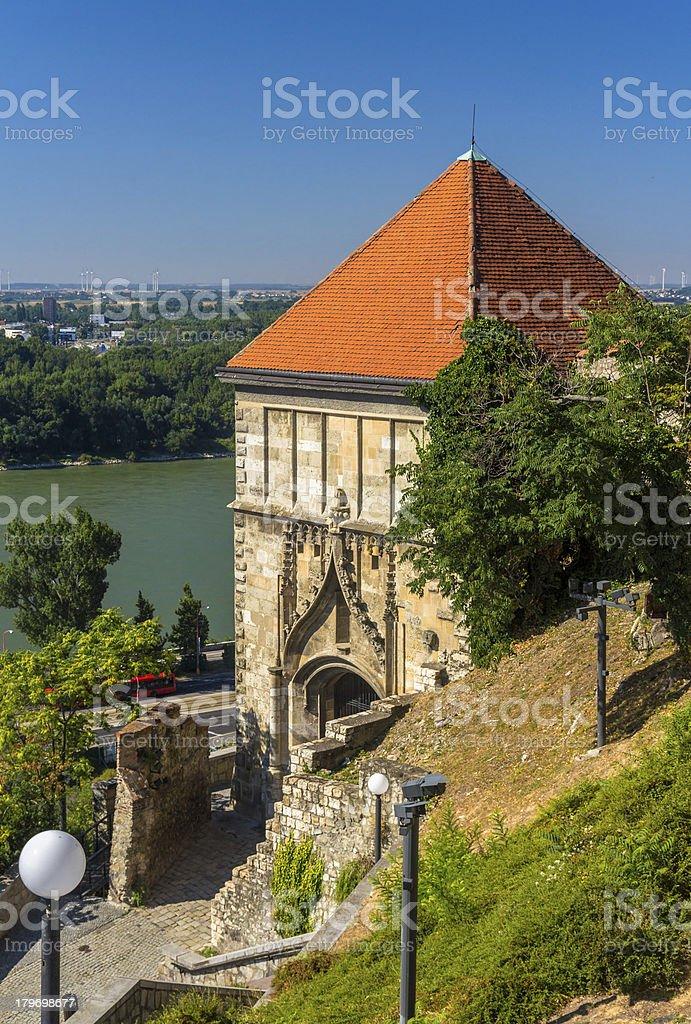 Sigismund Gate to Bratislava Castle - Slovakia royalty-free stock photo