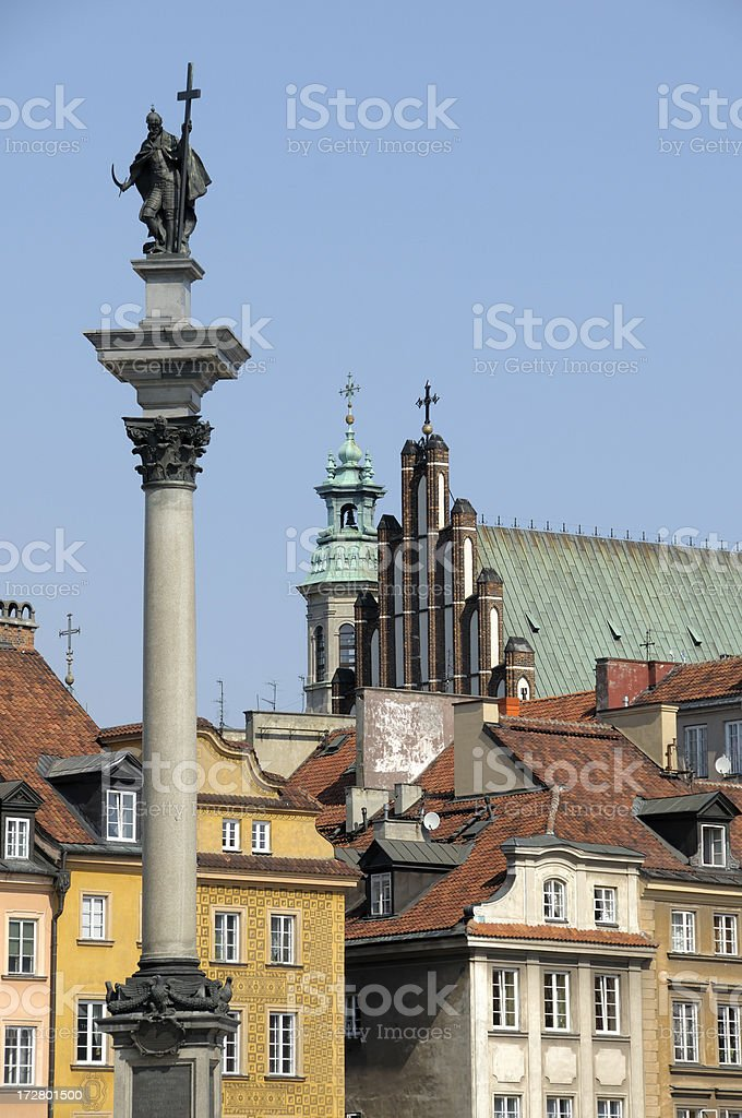 Sigismund's Column royalty-free stock photo