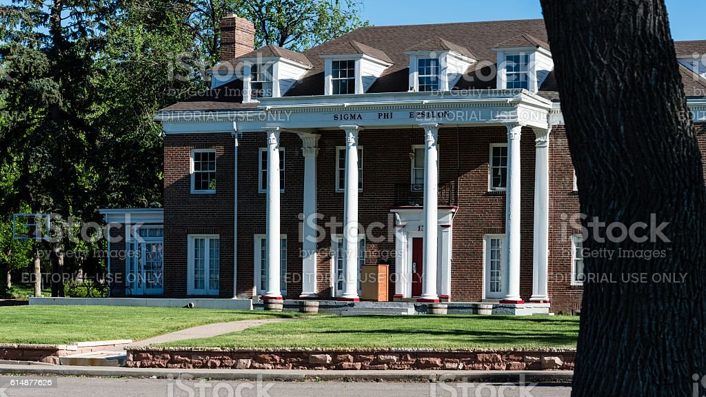 Sigma Phi Epsilon Fraternity House, CSU, Fort Collins stock photo