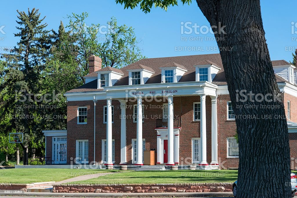 Sigma Phi Epsilon Fraternity House, Fort Collins stock photo