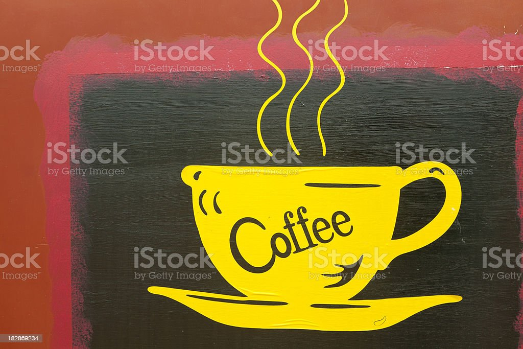 Sign Advertising Coffee Along Historic Route 66 royalty-free stock photo