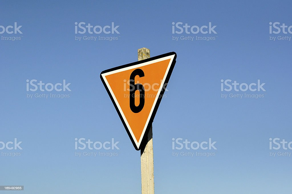 Sign against blue sky. royalty-free stock photo