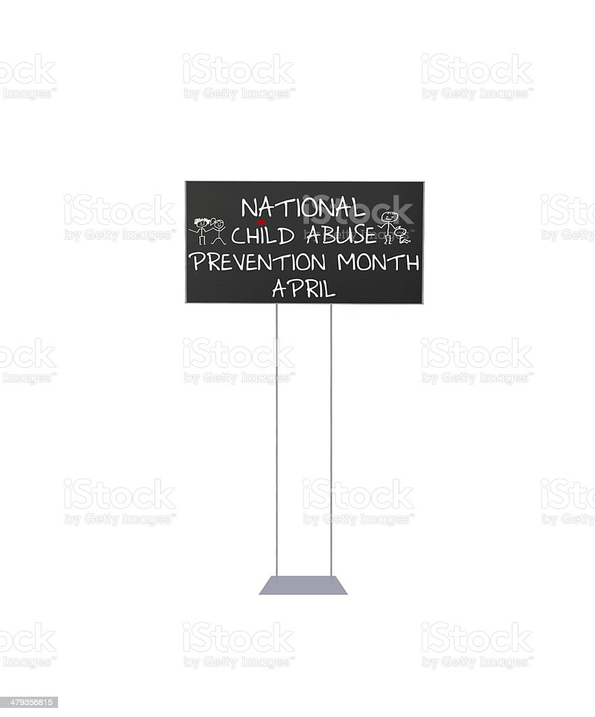 Sign April National Child Abuse Prevention Month stock photo