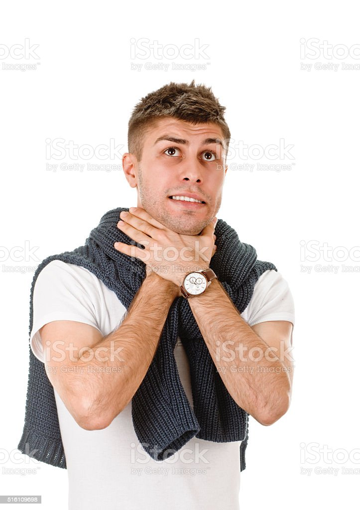 sign asphyxiation stock photo