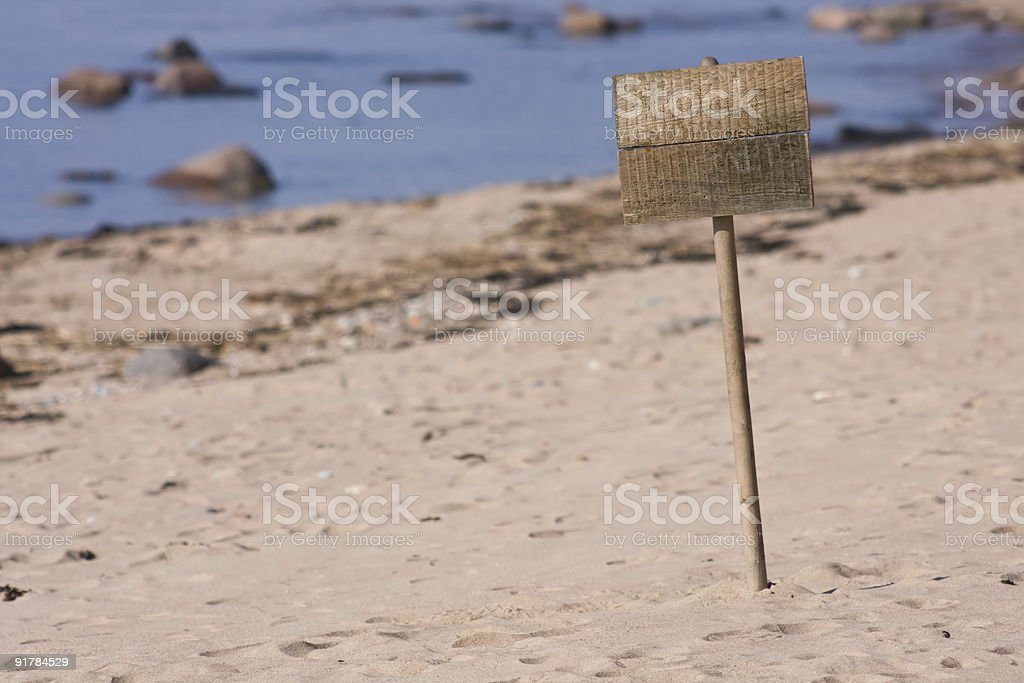 Sign at beach royalty-free stock photo