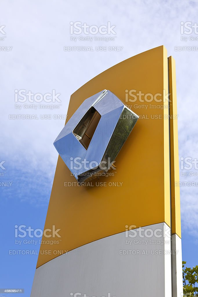 Sign at Renault car dealer stock photo