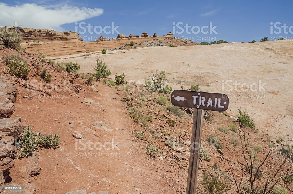 Sign at the Beggining of a Trail royalty-free stock photo