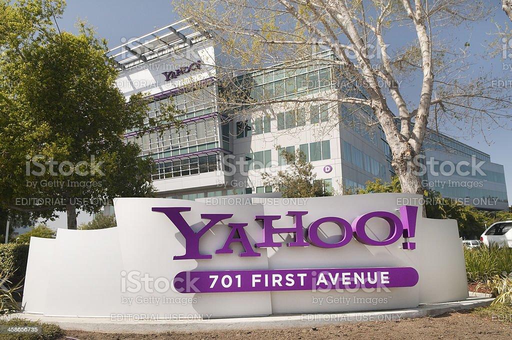 Sign at Yahoo Headquarters stock photo