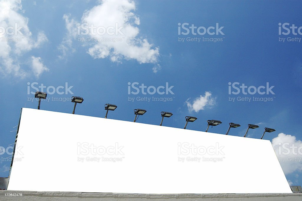 sign board, billboard stock photo