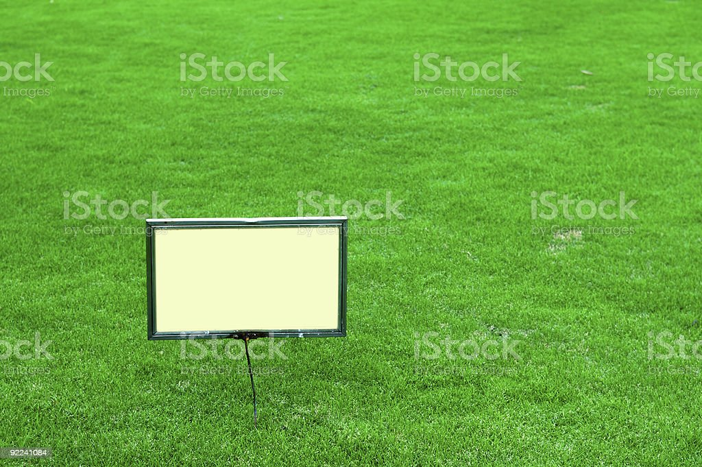 Sign board royalty-free stock photo