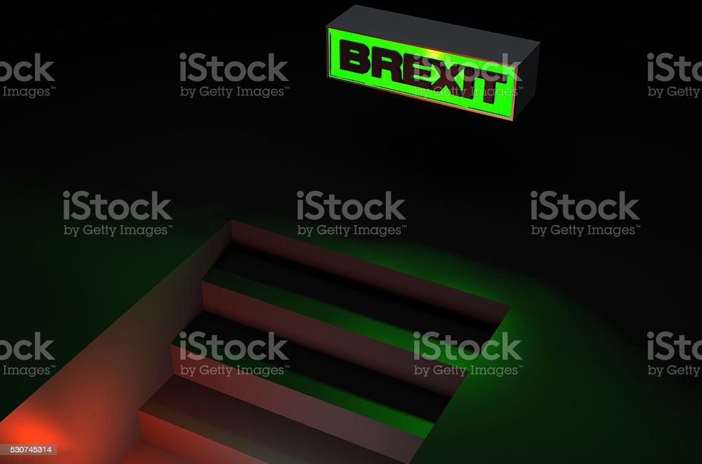 Sign Brexit sign stock photo