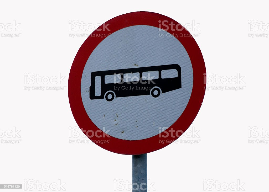 Sign Bus Stop stock photo