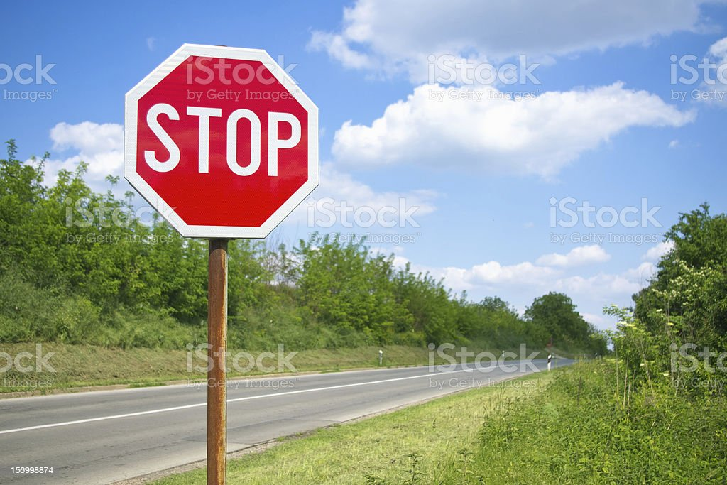 Sign by the road royalty-free stock photo