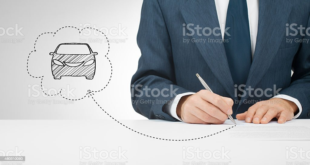 Sign car insurance stock photo