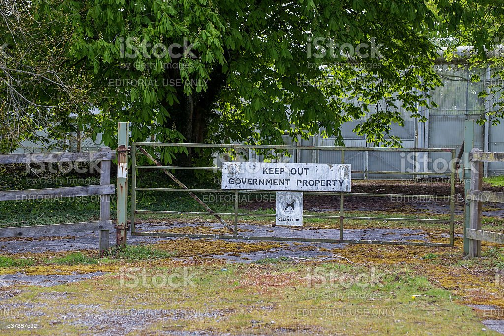 Sign channingswood stock photo