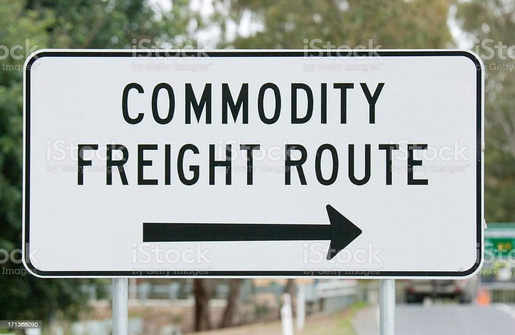 Sign - Commodity Freight Route royalty-free stock photo