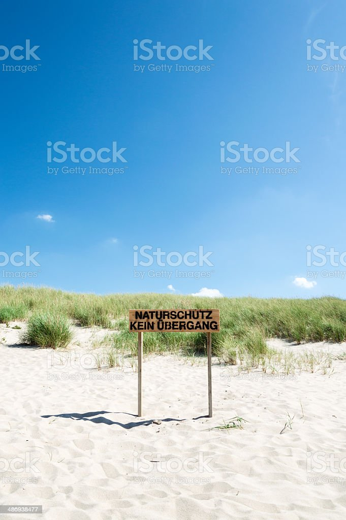 Sign Conservation Area stock photo