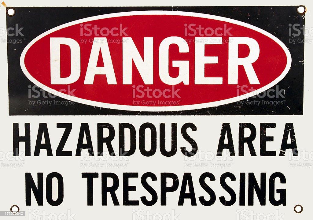 Sign - Danger Hazardous stock photo