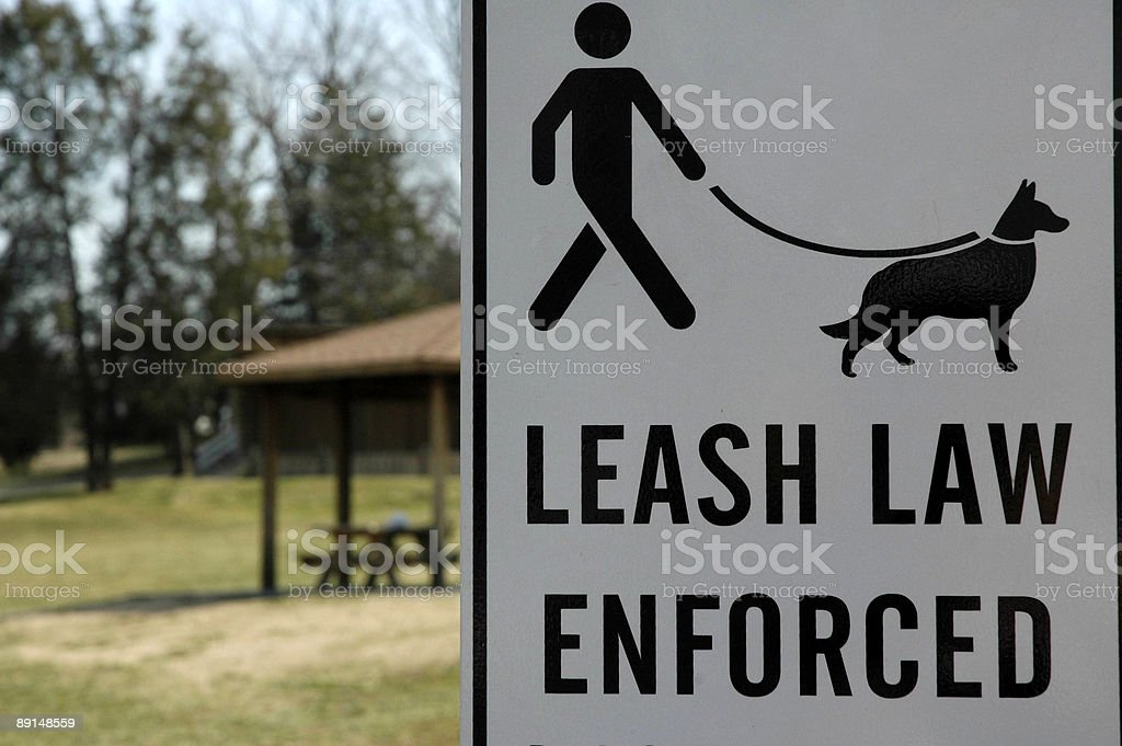 Sign - Dog Law royalty-free stock photo