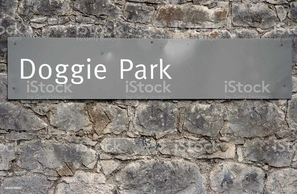 Sign 'Doggie Park' stock photo