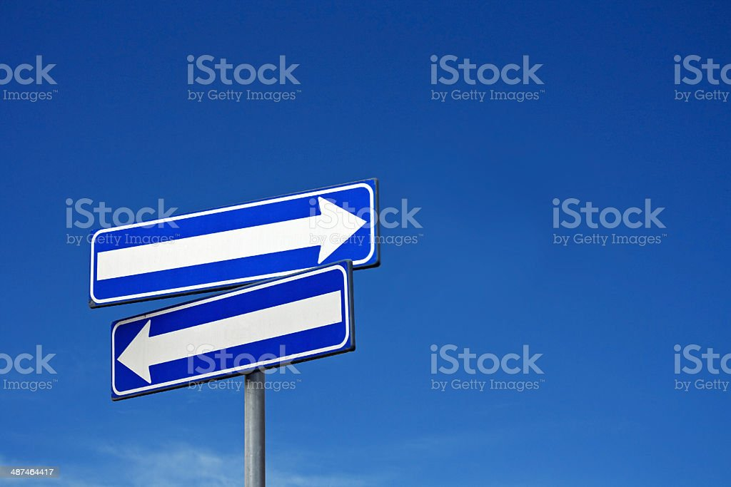 sign double way stock photo
