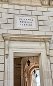 Sign Engraved on the Wall of the Internal Revenue Service