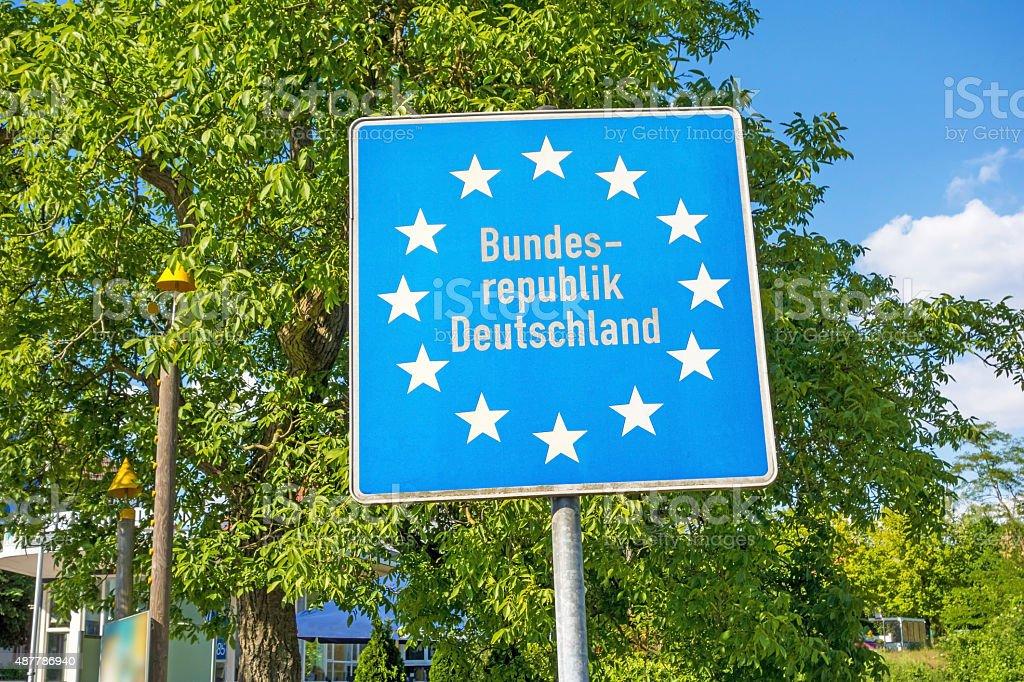 Sign Europe / Bundesrepublik Deutschland stock photo