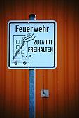 Sign fire service entrance