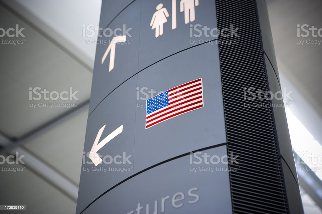 Sign for American destination royalty-free stock photo