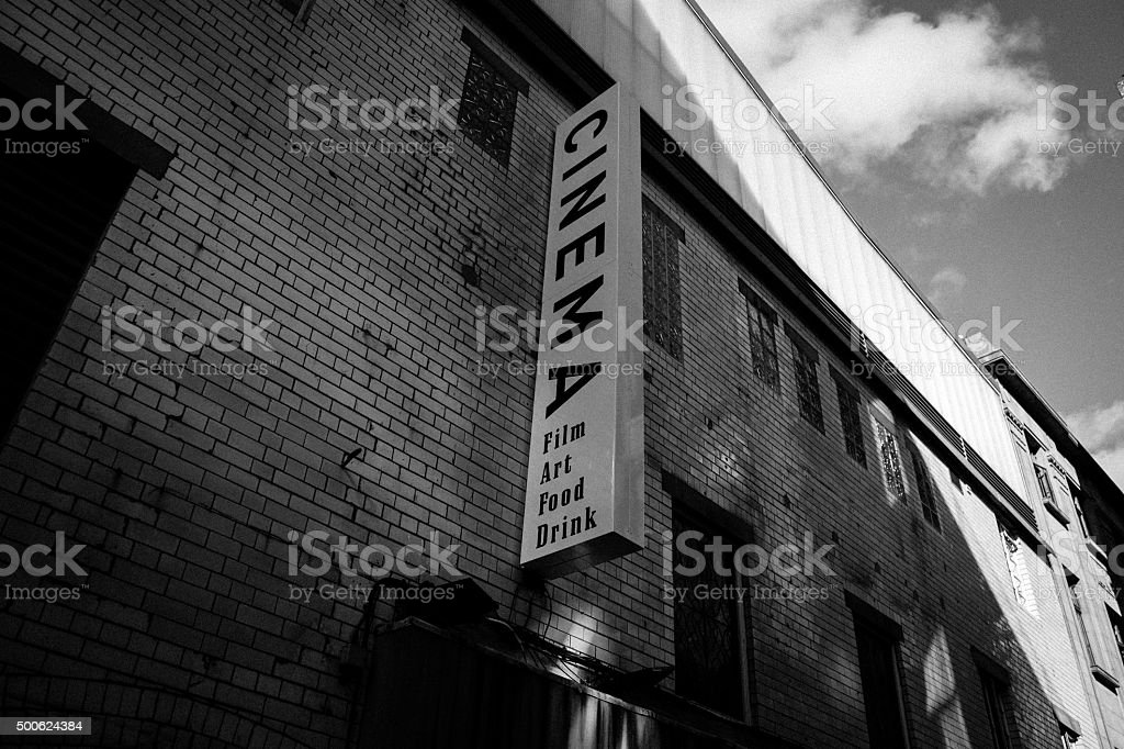 Sign for an old cinema stock photo