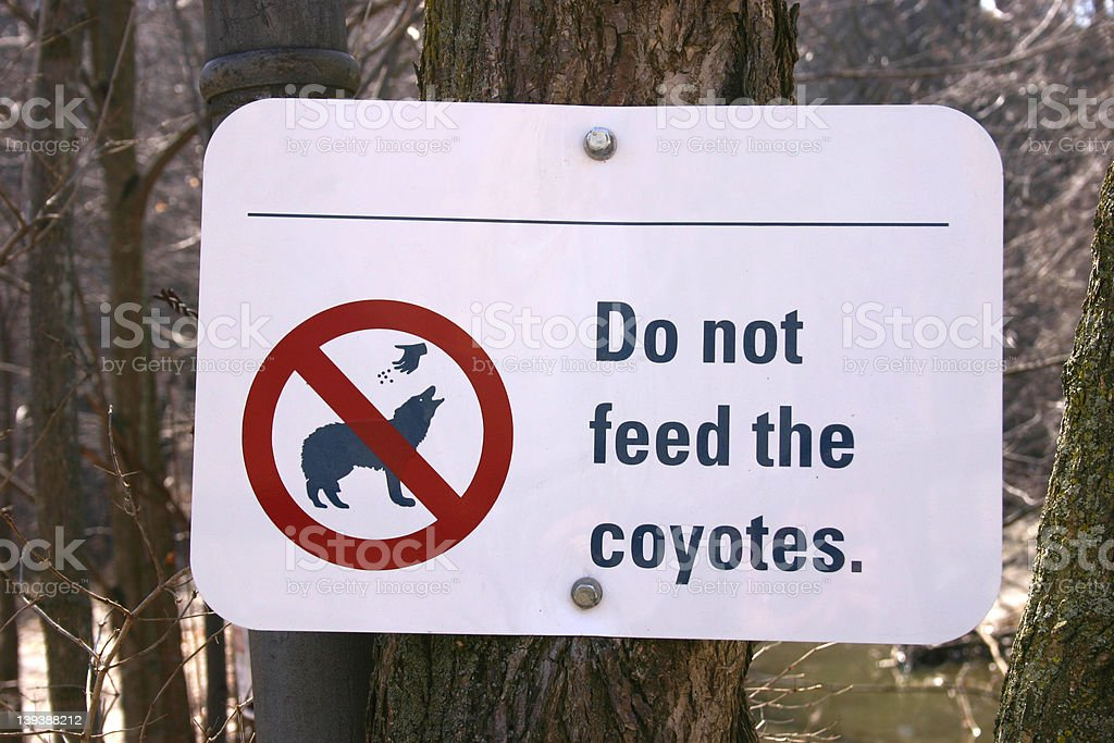 Sign for coyote royalty-free stock photo