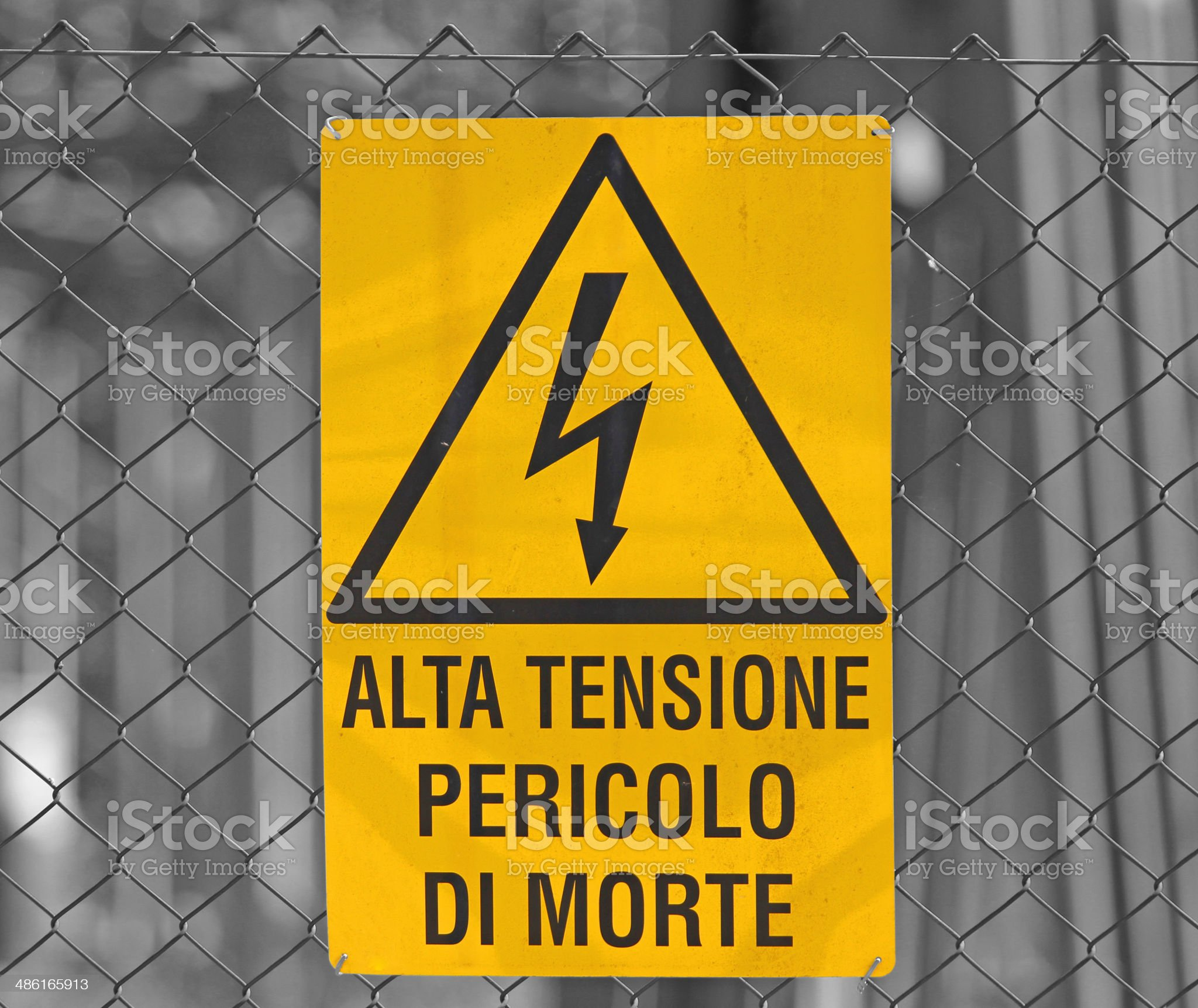 sign for danger high voltage attention royalty-free stock photo