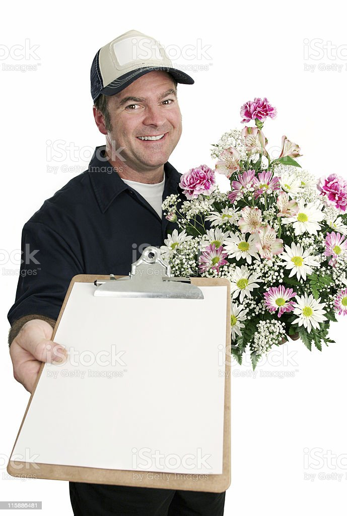 Sign For Flower Delivery royalty-free stock photo