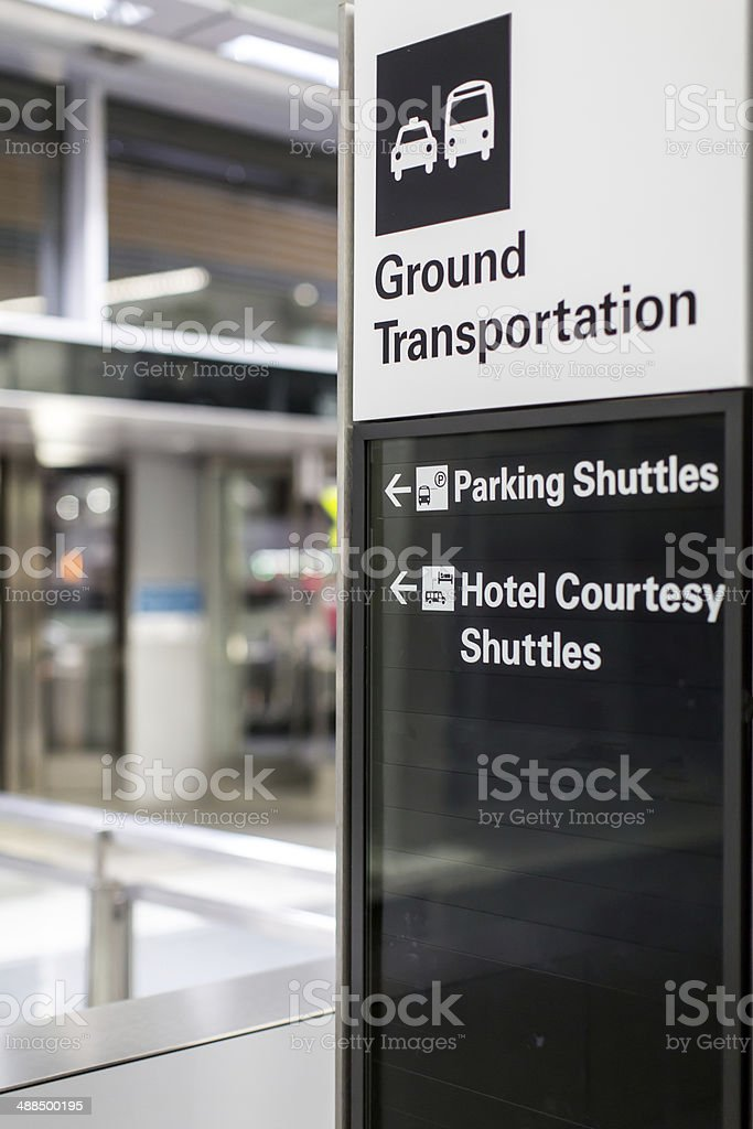 Sign for ground transportation stock photo