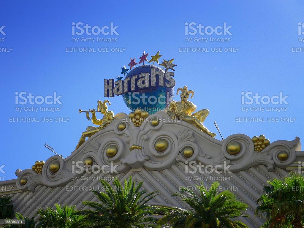 Sign for Harrah's hotel casino in Las Vegas stock photo
