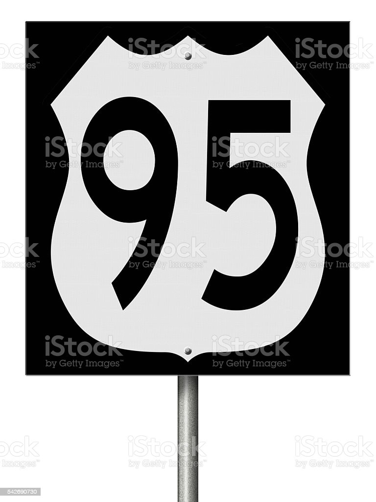 Sign for Highway 95 stock photo