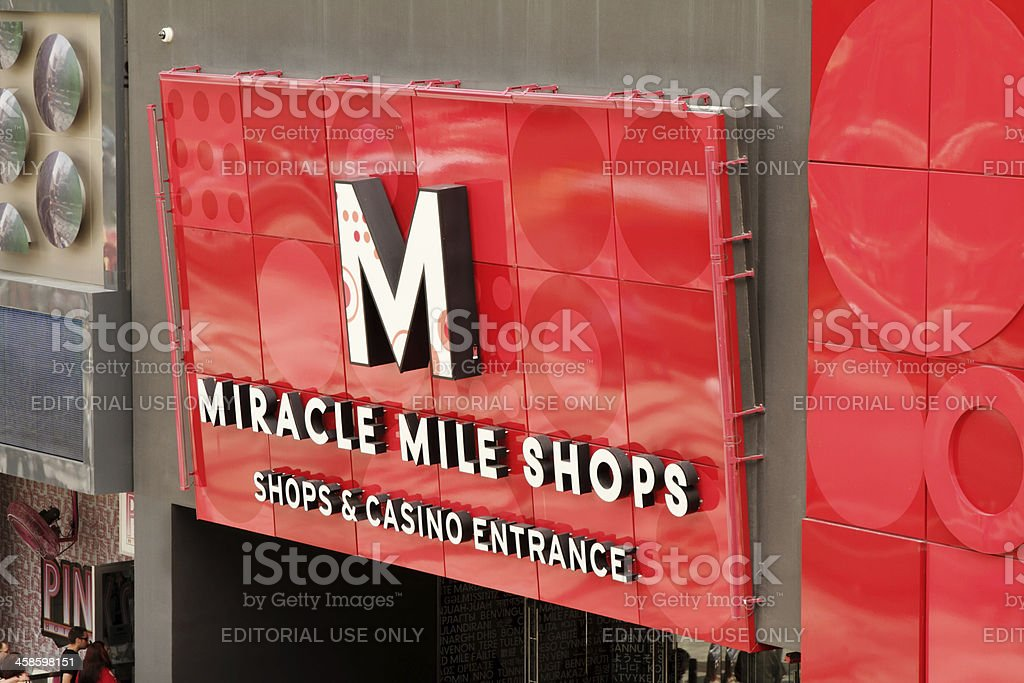 Sign for Miracle Mile Shops in Las Vegas stock photo
